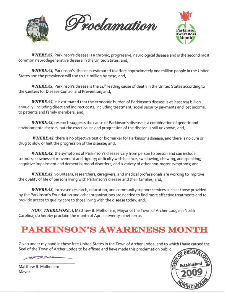 Parkinsons Awareness Month Proclamation 4-2019.jpg