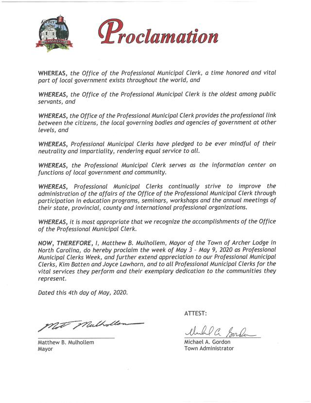 Proclamation - Professional Municipal Clerks Week-5-2020.jpg