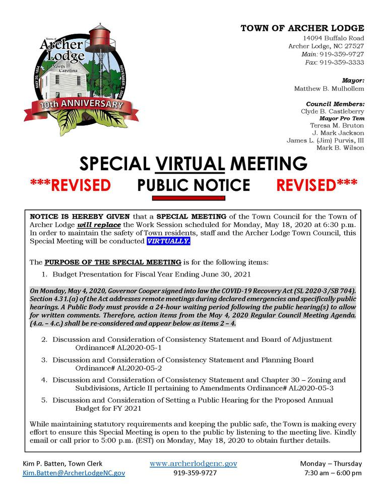 TOAL NOTICE OF SPECIAL VIRTUAL MEETING 5.18.20 WITH HEADER rev 5.14.20.jpg